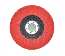 Ceramic fiberglass backing flap disc