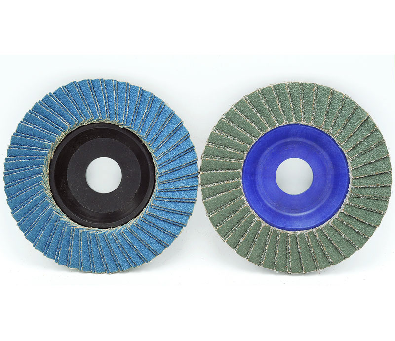 Flap Disc--Dual flaps(Aluminum oxide/Zirconia/Silicon carbide+nylon backing)
