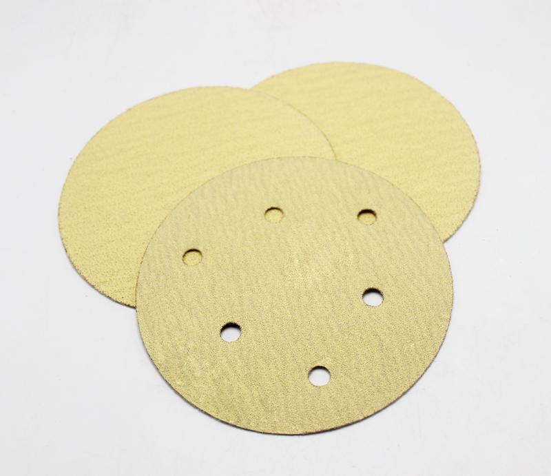 Yellow Aluminum Oxide Velcro/PSA Disc